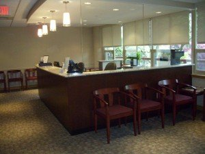 front desk from waiting area